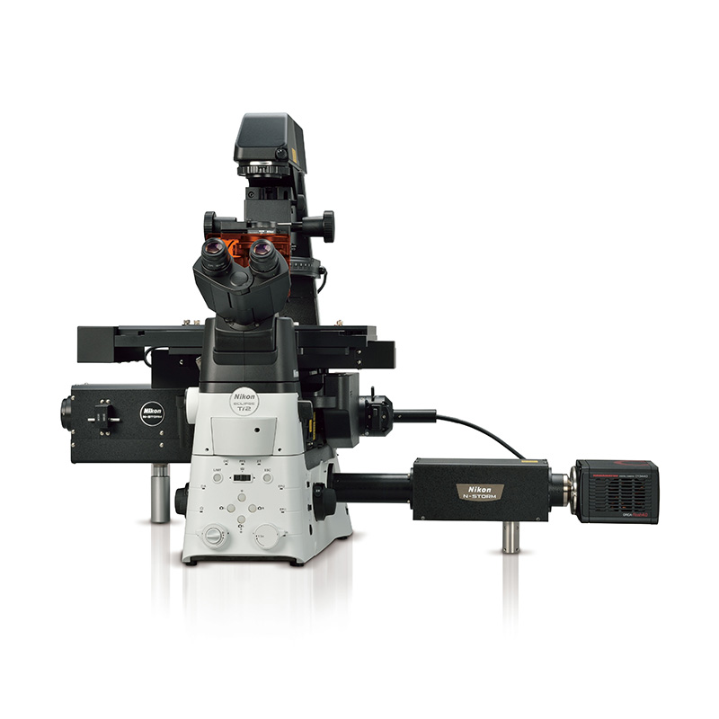 Mikroskop Nikon N-STORM som lokaliserar fluorokromer och skapar högupplösta bilder
