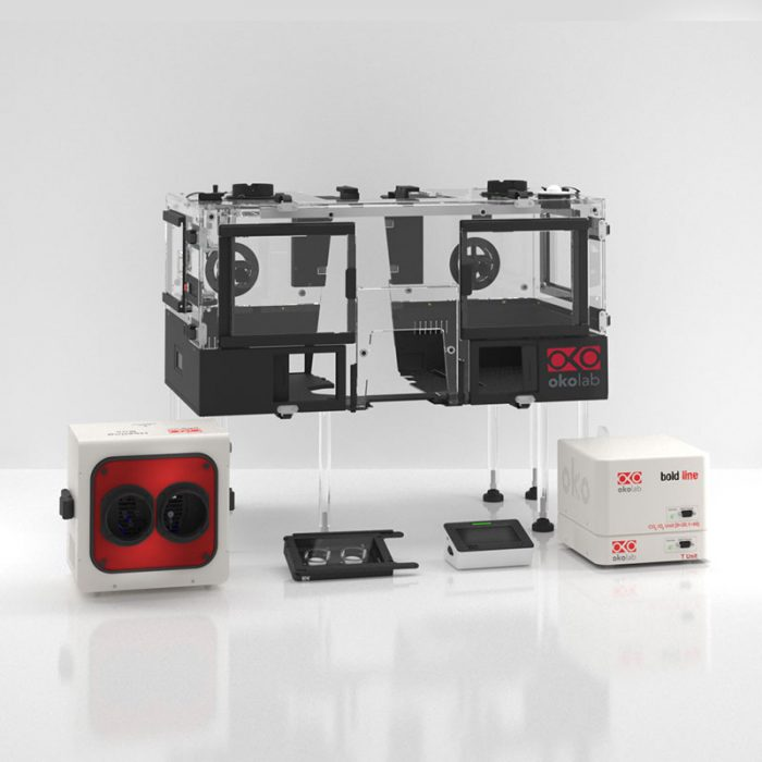 Mikroskop tillbehör Okolab för biomedicinsk forskning